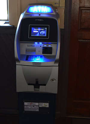 Photo of an ATM at McSorley's Ale House