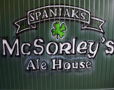 Spray Paint Version of McSorley's Logo