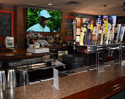 A picture of behind the bar