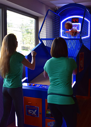 Bartenders Shooting Hoops